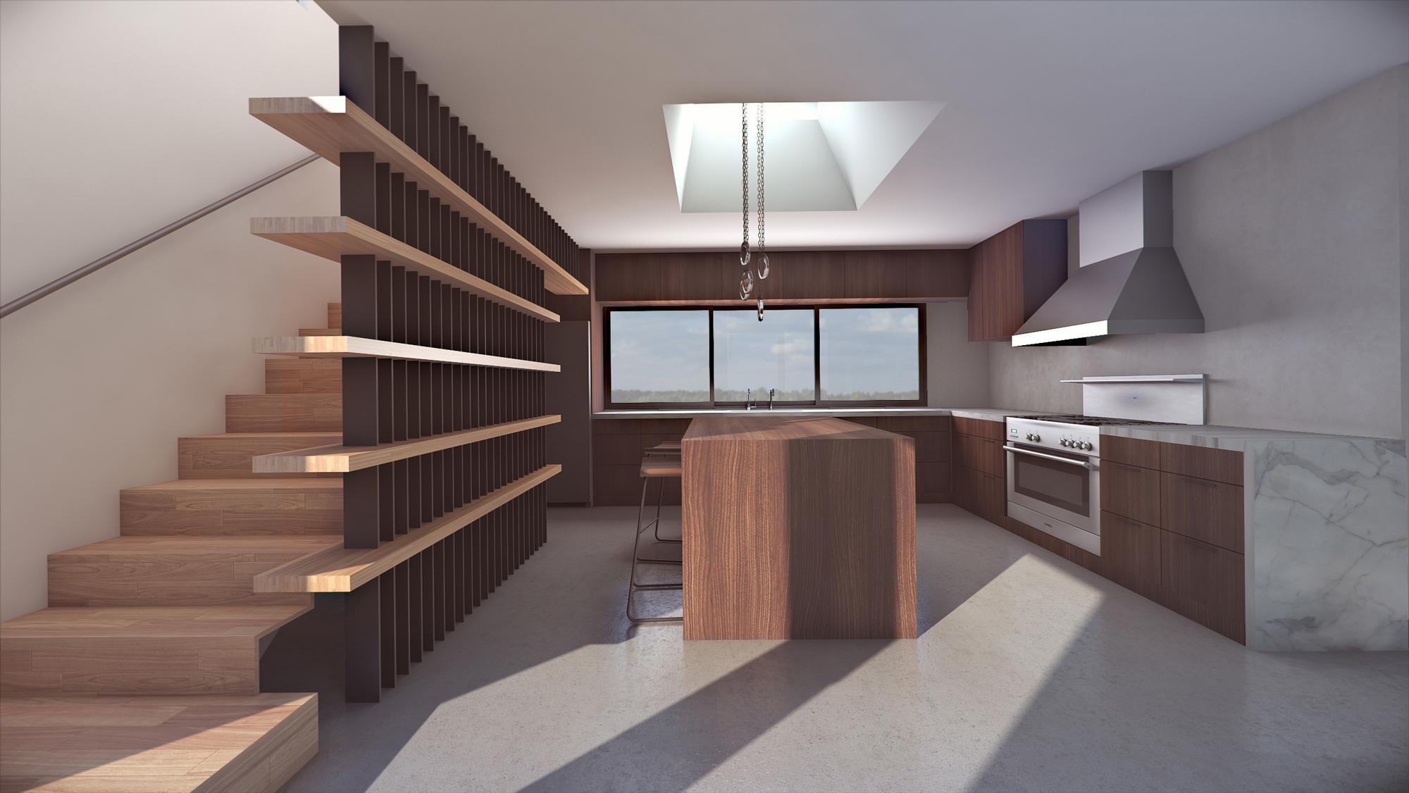 Custom Kitchen 3d Render American Render 3d Rendering Miami