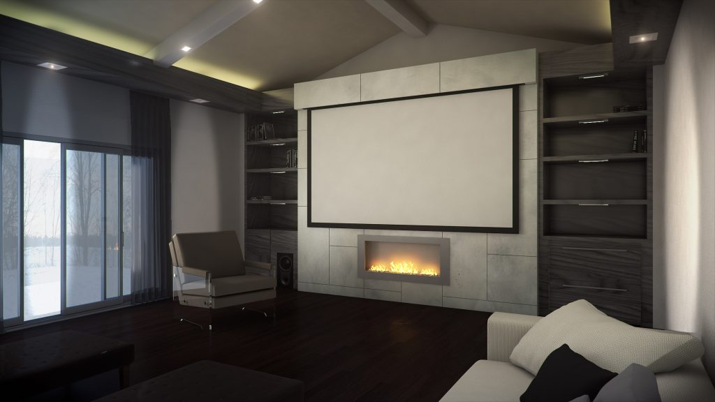 Custom Home Cinema 3D Rendering