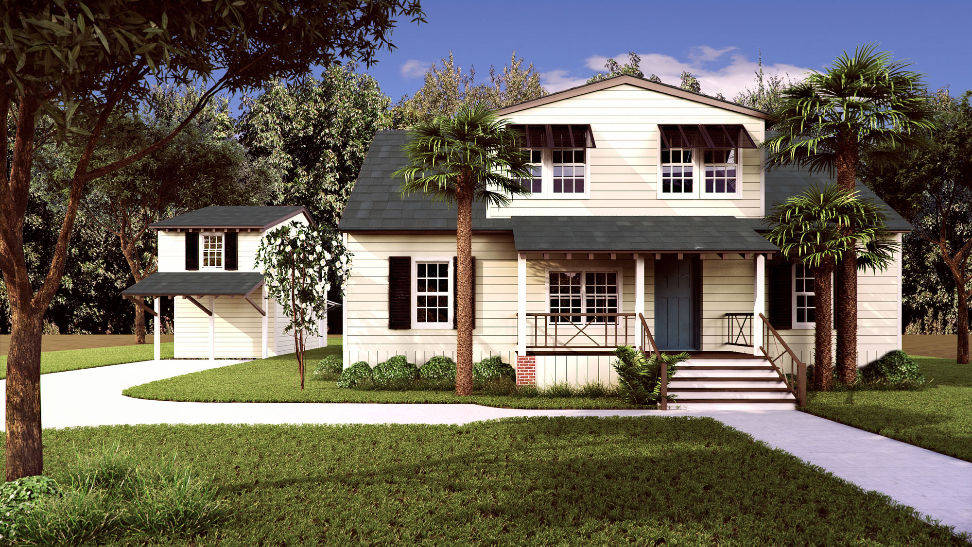 Residential Home 3D Render