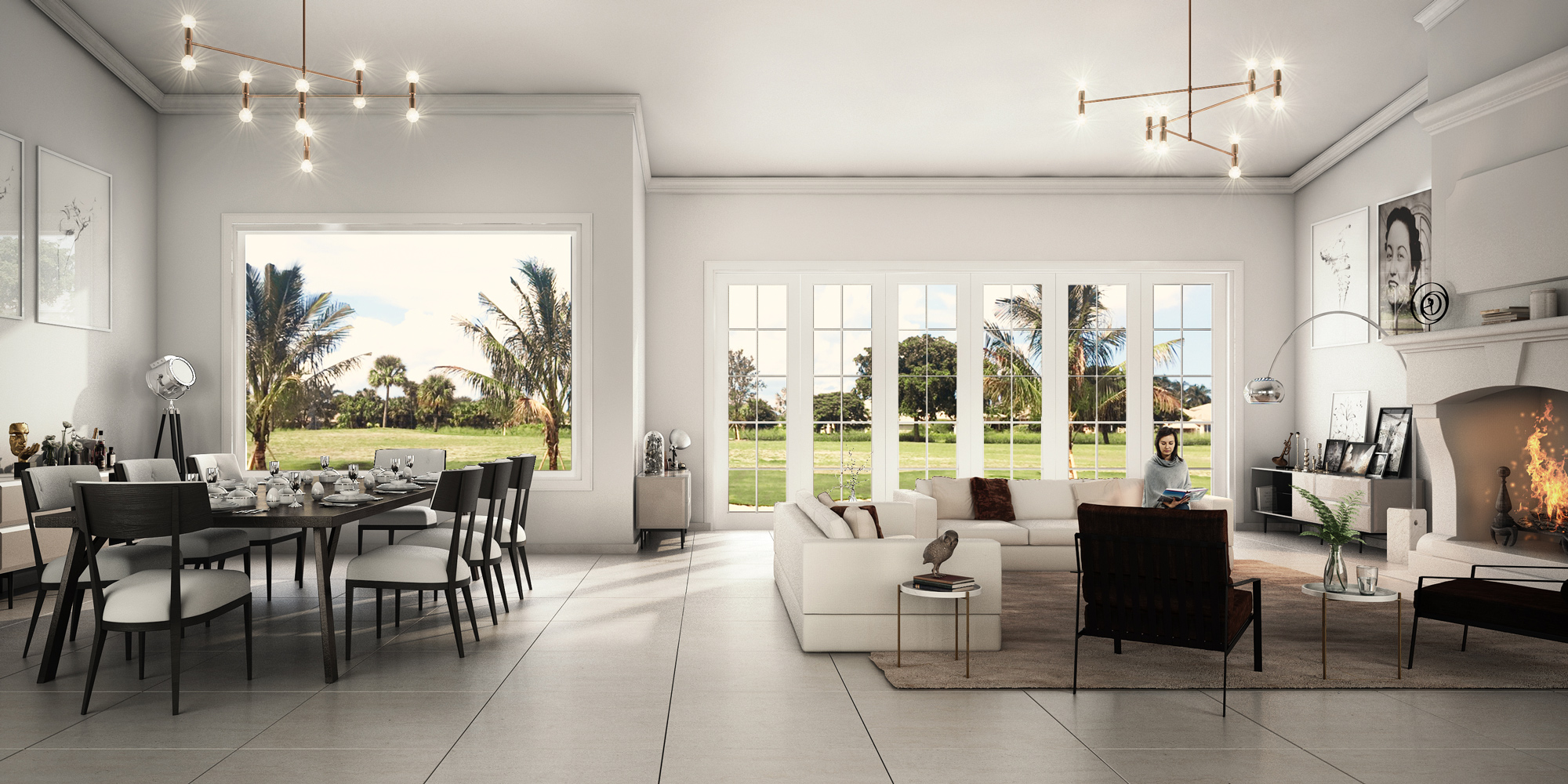 Residential 3D Cozy Interior