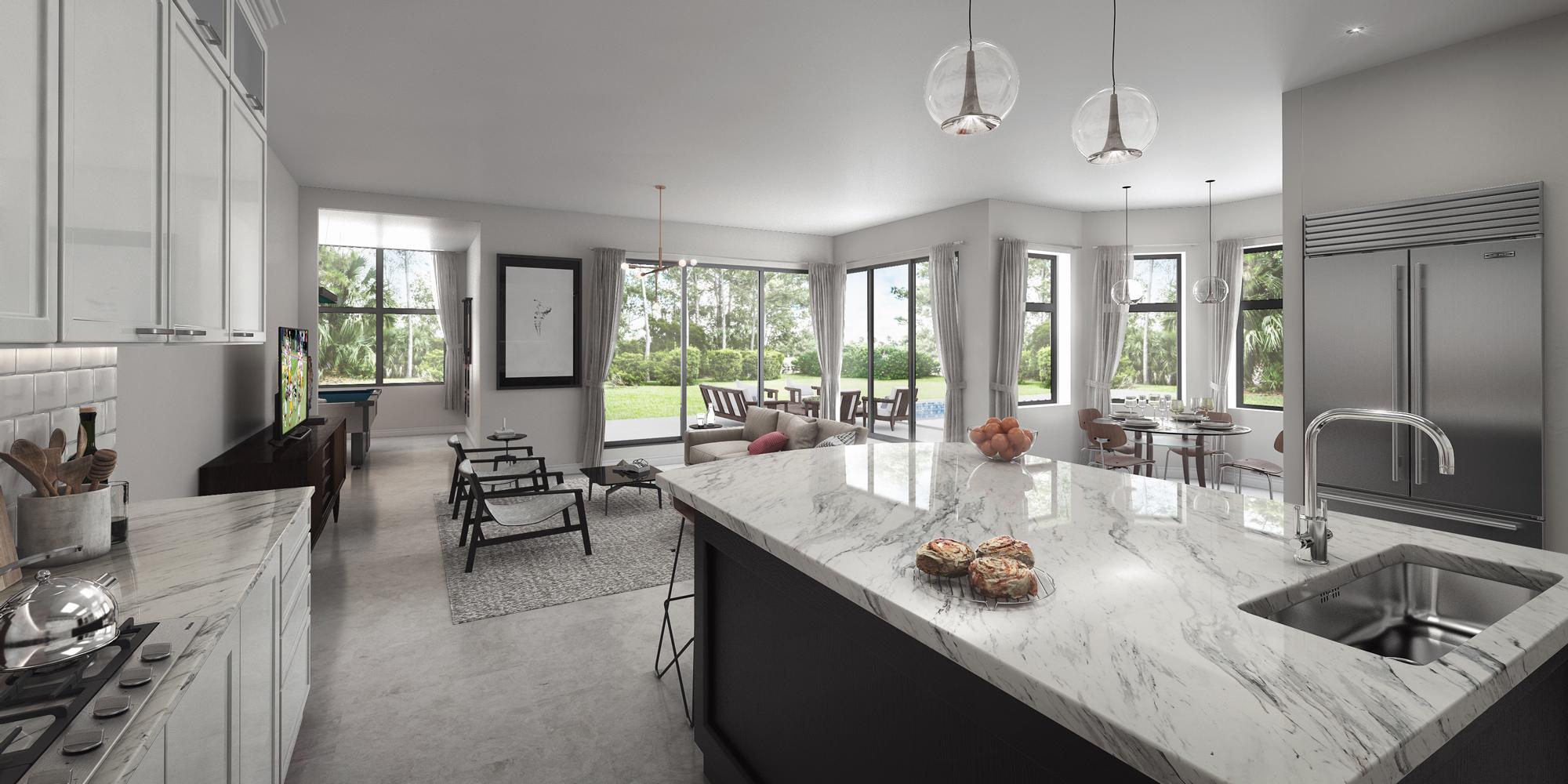 Modern Kitchen 3D Image