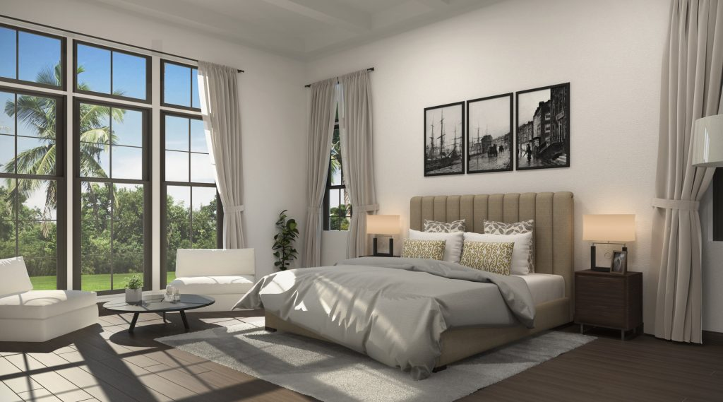 Master Bedroom 3D Render