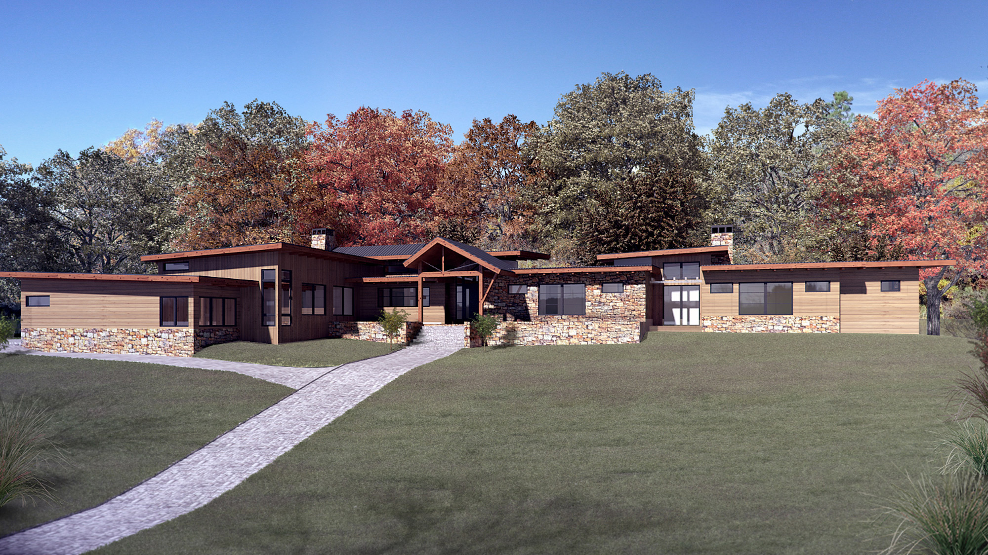 Colorado Home 3D Render