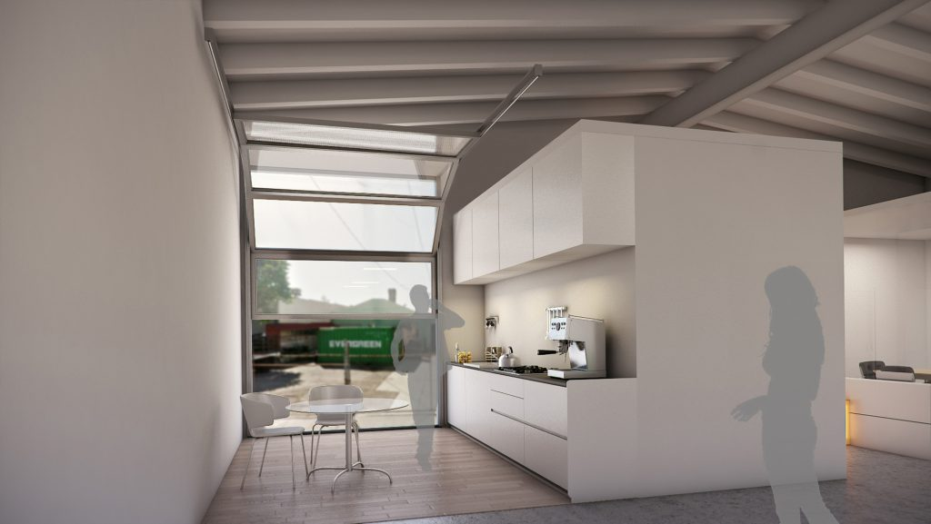 Office Kitchen 3D Rendering