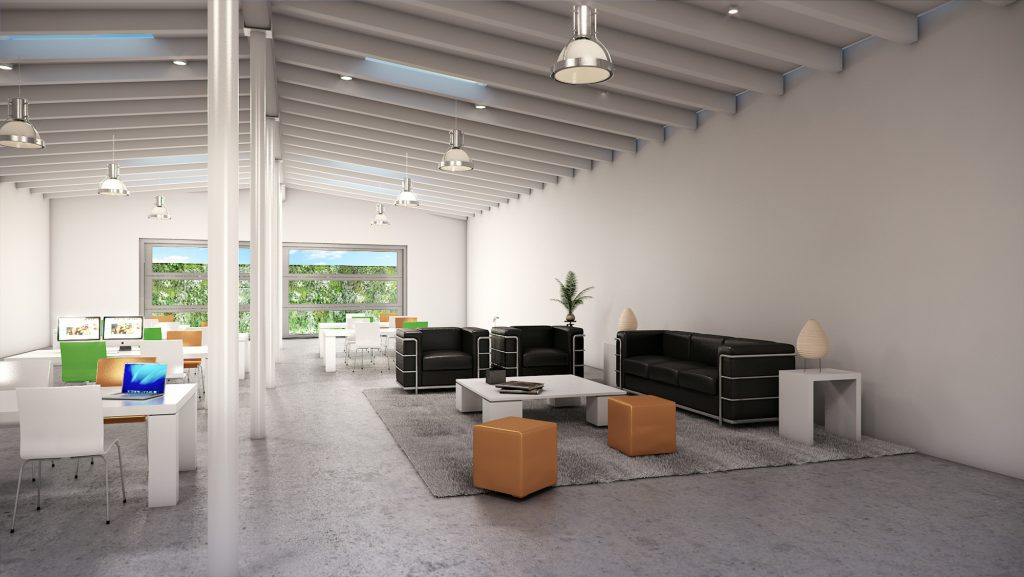 Office Hall 3D Rendering