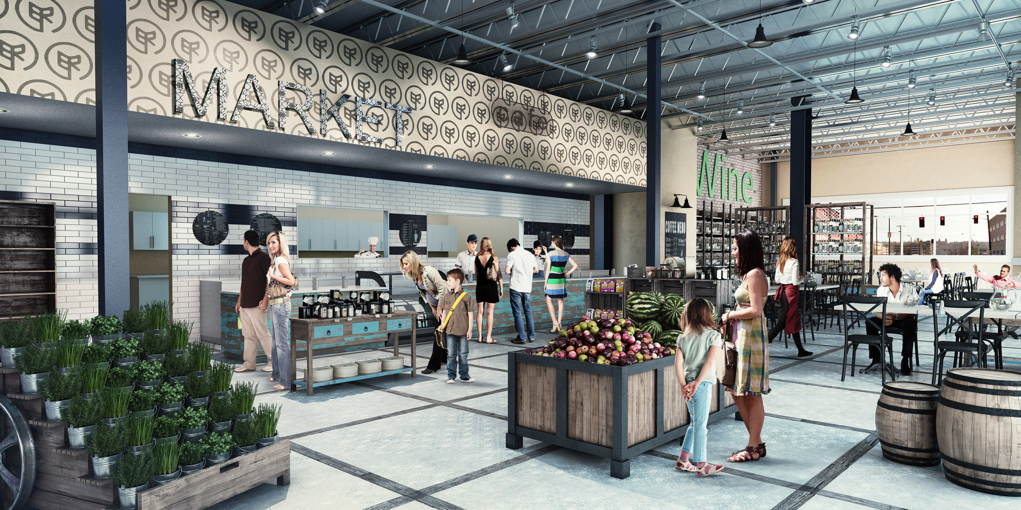 Custom Market 3D Interior