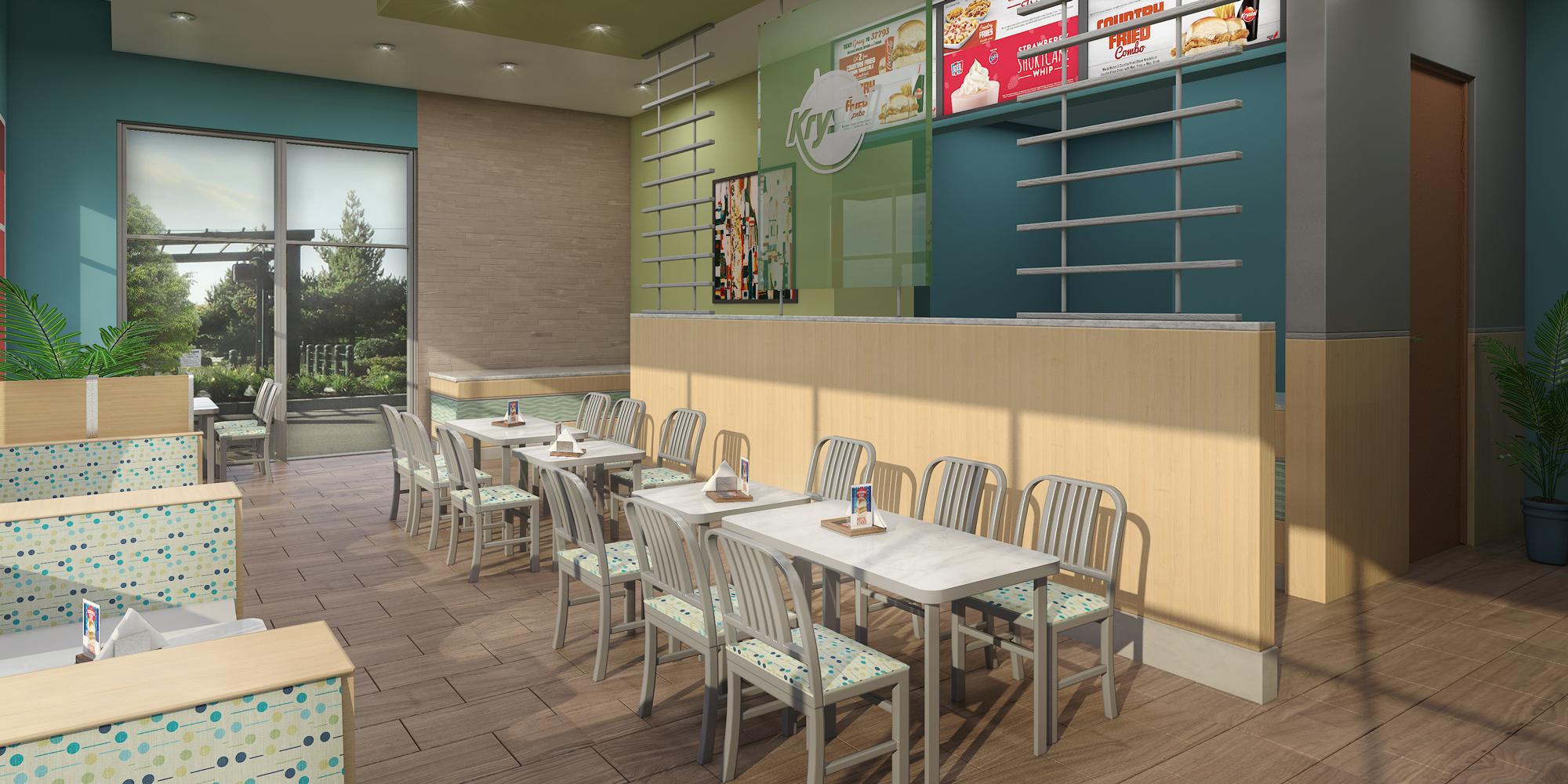 fast food 3d restaurant rendering   american render 3d rendering miami