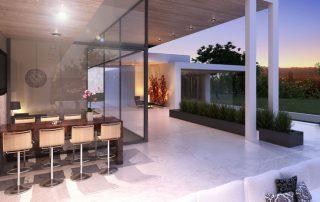 3d rendering. modern-exterior
