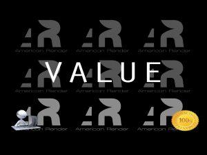 American 3D Render Value Proposition