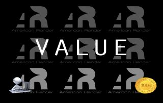 American 3D Render Value Proposition