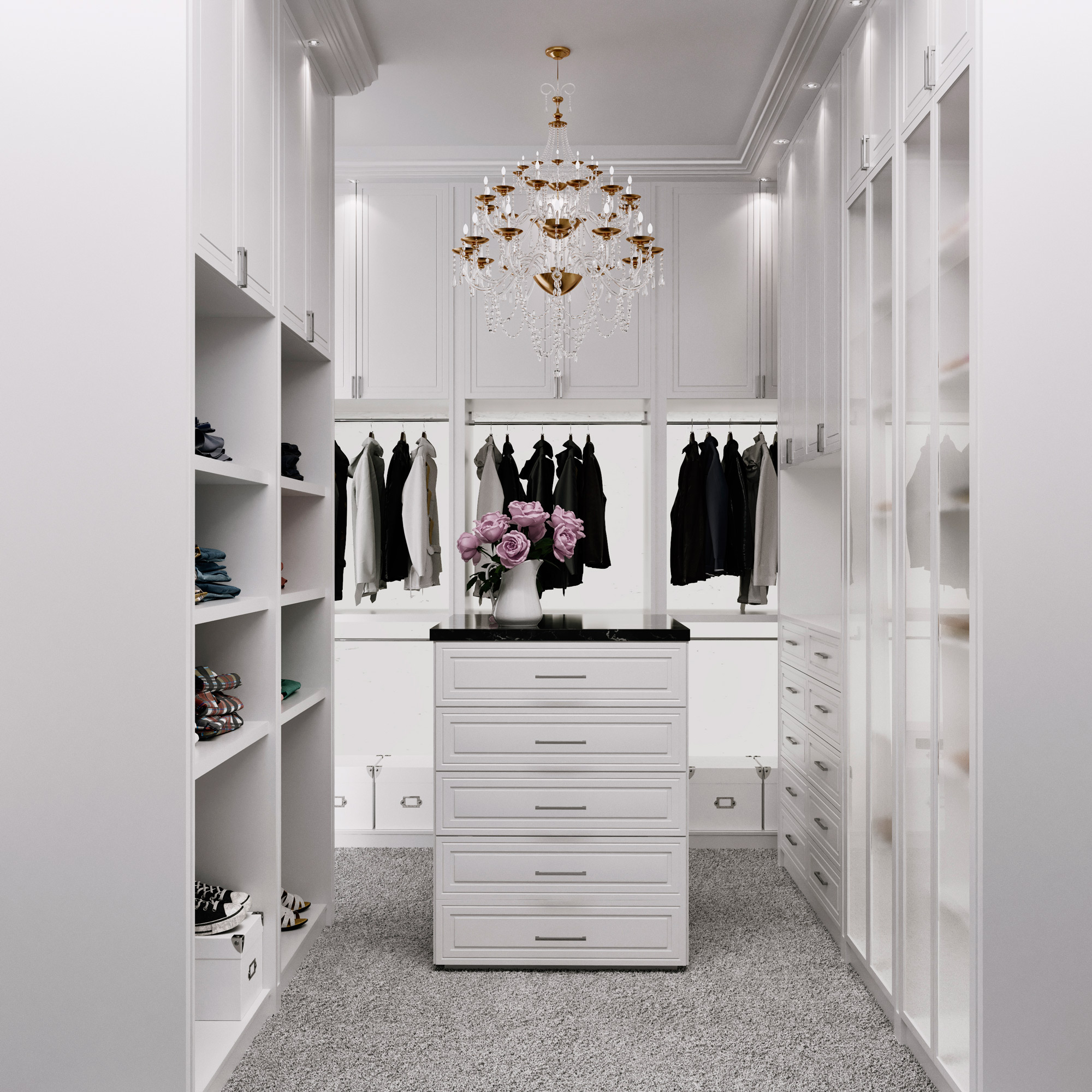 Custom Closets American Render Miami